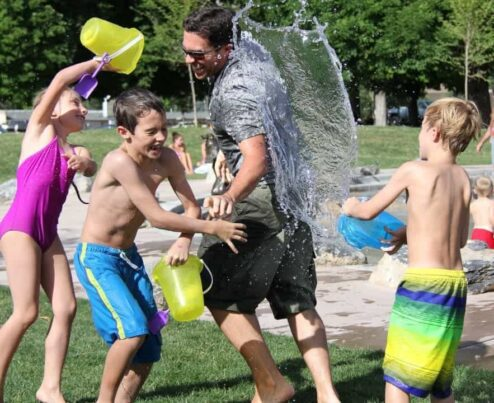 have fun with the kids outdoors