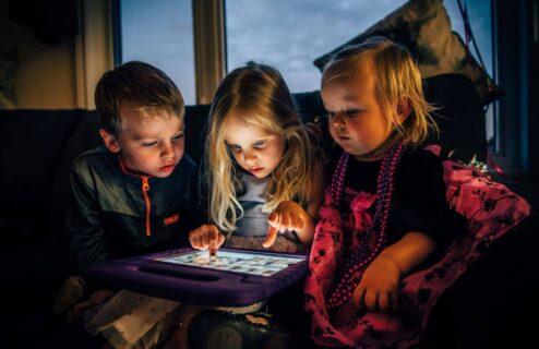 kids on tech